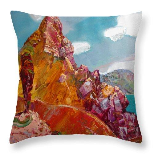 Ignatenko Throw Pillow featuring the painting Crimea by Sergey Ignatenko