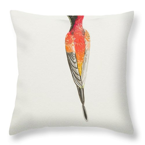 Crimson Topaz Throw Pillow featuring the painting Crimson Topaz by Stefanie Forck