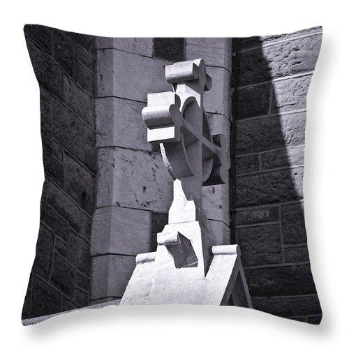 Irish Throw Pillow featuring the photograph Cross At St. Johns Tralee Ireland by Teresa Mucha