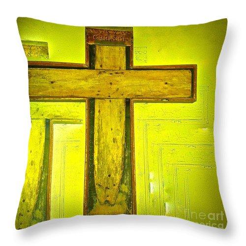Bike Tour Throw Pillow featuring the photograph Simple Cross by Elisabeth Derichs