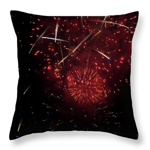 Clay Throw Pillow featuring the photograph Cross Fire by Clayton Bruster