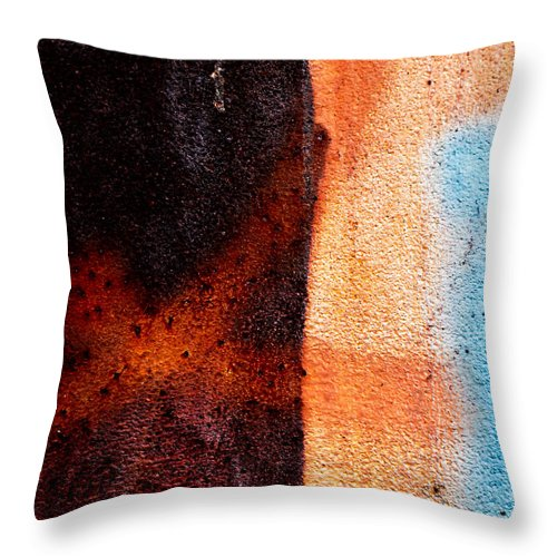 Abstract Throw Pillow featuring the photograph Cross Roads by Bob Orsillo