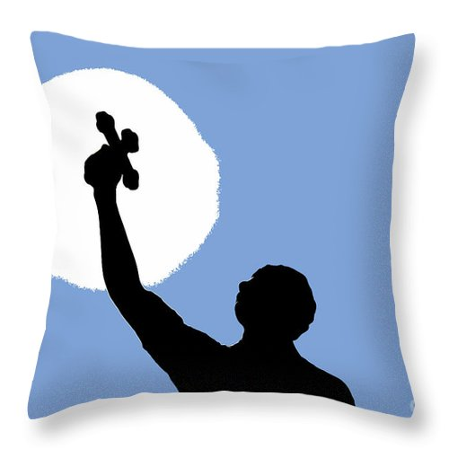 Cross Throw Pillow featuring the photograph Cross Sky by David Lee Thompson