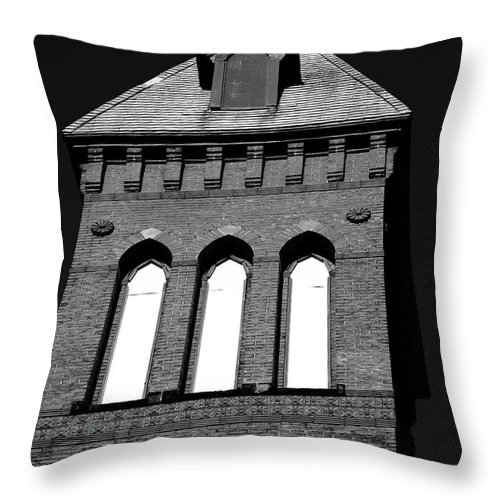 Church Throw Pillow featuring the photograph Cross Tower by Karol Livote