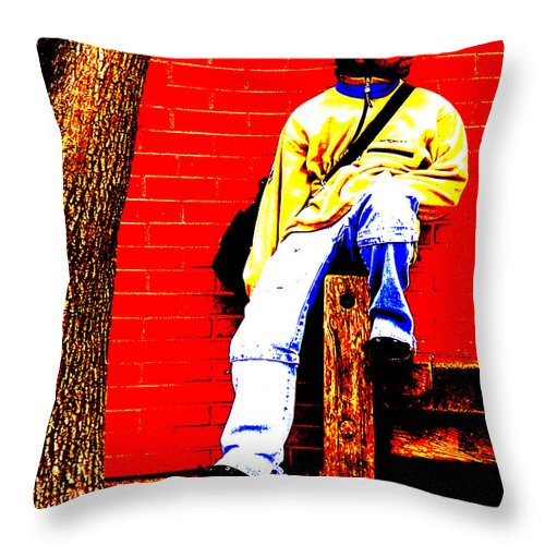 Canvas Throw Pillow featuring the photograph Cross Town Run by Albert Stewart