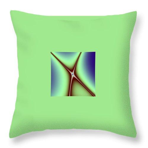 Digital Art Throw Pillow featuring the digital art Crossing II by Dragica Micki Fortuna