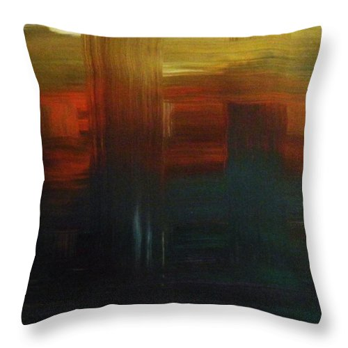 Abstract Throw Pillow featuring the painting Crossroads by Todd Hoover