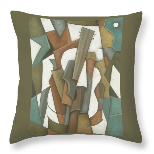 Cubism Throw Pillow featuring the painting Crossroads by Trish Toro
