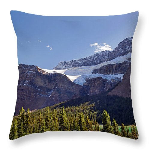 Crowfoot Glacier Throw Pillow featuring the photograph Crowfoot Glacier, Banff National Park by Yefim Bam