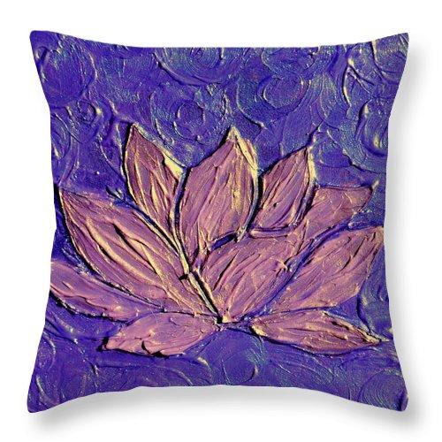 Crown Chakra Art Purple Lotus Flower Throw Pillow For Sale By Chakra Art