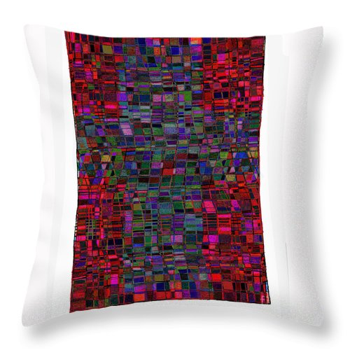 Cruciform Throw Pillow featuring the drawing Cruciform 20 by Andy Mercer
