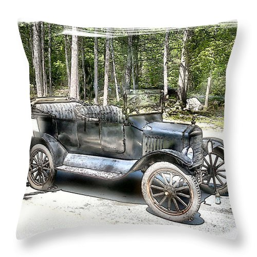 Vehicle Throw Pillow featuring the photograph Cruisin' by Rose Guay