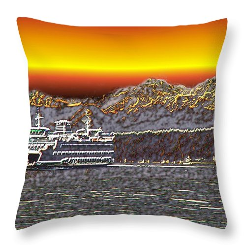 Seattle Throw Pillow featuring the photograph Cruisin The Sound by Tim Allen