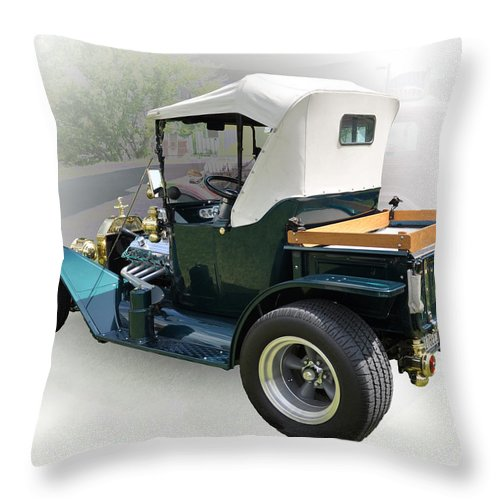 Antique Throw Pillow featuring the photograph Crusin' by Terry Anderson