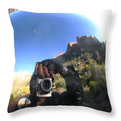 Zion Throw Pillow featuring the photograph Crusin' Zion by Cathy Franklin