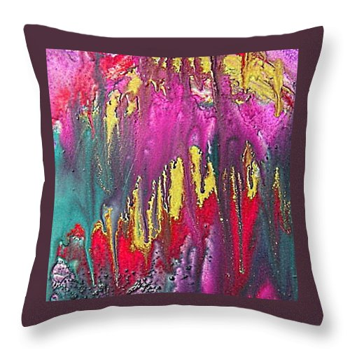 Sorrow Throw Pillow featuring the painting Crying Time by Dragica Micki Fortuna