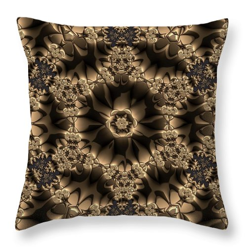 Light Throw Pillow featuring the digital art Crystal 20 by Robert Thalmeier
