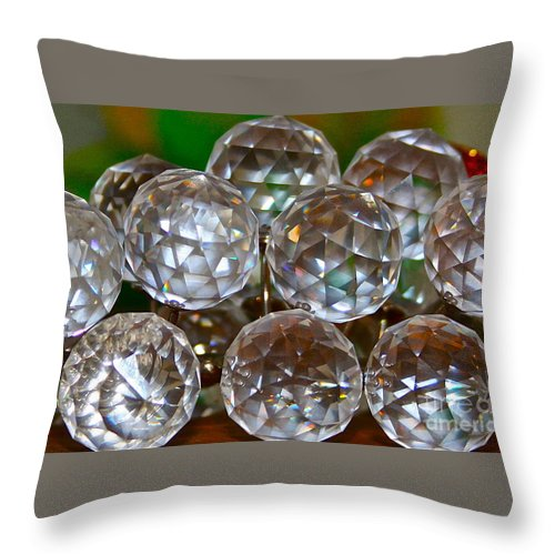 Crystal Throw Pillow featuring the photograph Crystal Balls by Rick Monyahan