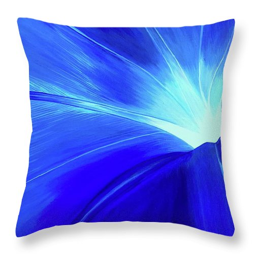 Morning Glory Throw Pillow featuring the painting Crystal Blue Persuasion by Hunter Jay