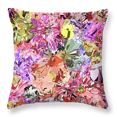 Bed Throw Pillow Placement : Soft Abstract Flower Bed Throw Pillow for Sale by Lawrence O Toole