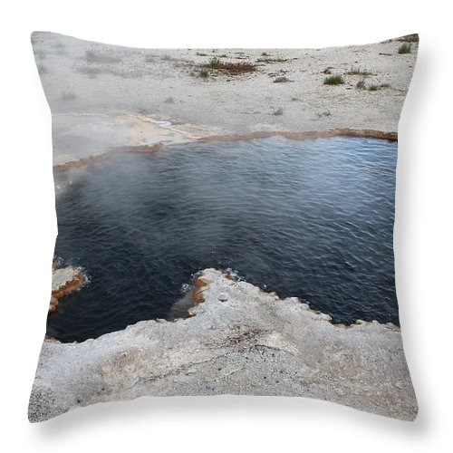 Crystal Throw Pillow featuring the photograph Crystal Pool by John Connor Bray