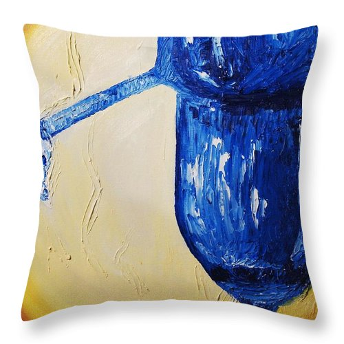 Glass Throw Pillow featuring the painting Crystal Spotlight by Lauren Luna