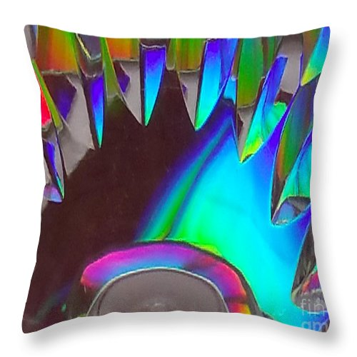Refraction Throw Pillow featuring the photograph Crystal Teeth by Rob Mandell