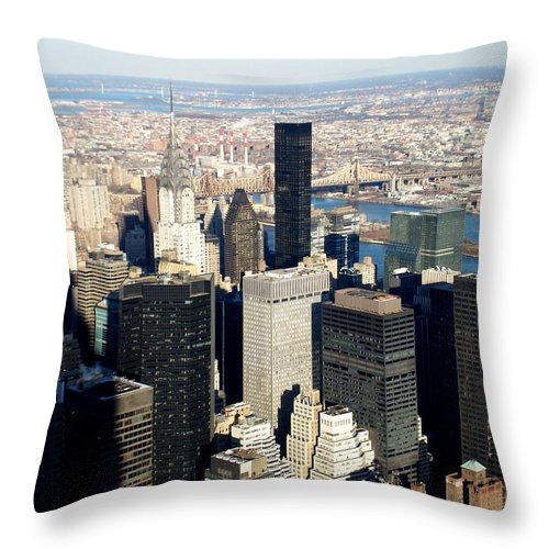 Crystler Building Throw Pillow featuring the photograph Crystler Building 2 by Anita Burgermeister