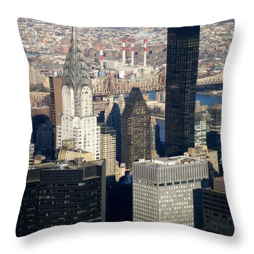 Crystler Building Throw Pillow featuring the photograph Crystler Building by Anita Burgermeister