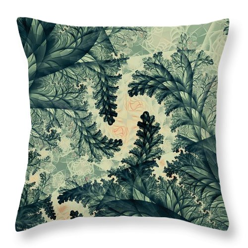 Plant Throw Pillow featuring the digital art Cubano Cubismo by Casey Kotas