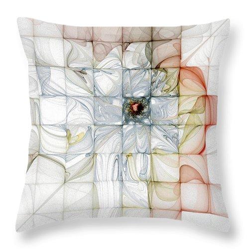Digital Art Throw Pillow featuring the digital art Cubed Pastels by Amanda Moore