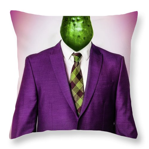 Adult Throw Pillow featuring the photograph Cucumber Head by Juan Silva 976a33dd0b