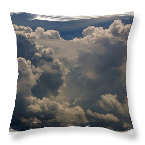 Cloud Throw Pillow featuring the photograph Cumulonimbus by Priscilla Richardson