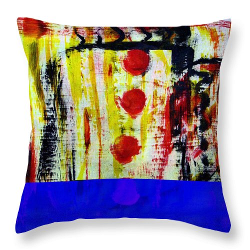Coffee Throw Pillow featuring the painting Cup Of Java by Wayne Potrafka