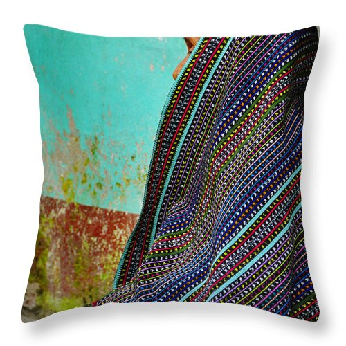 Skip Hunt Throw Pillow featuring the photograph Curandera by Skip Hunt
