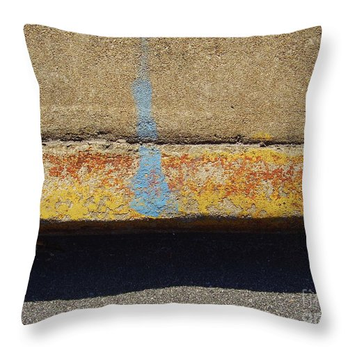 Abstract Throw Pillow featuring the photograph Curb by Flavia Westerwelle