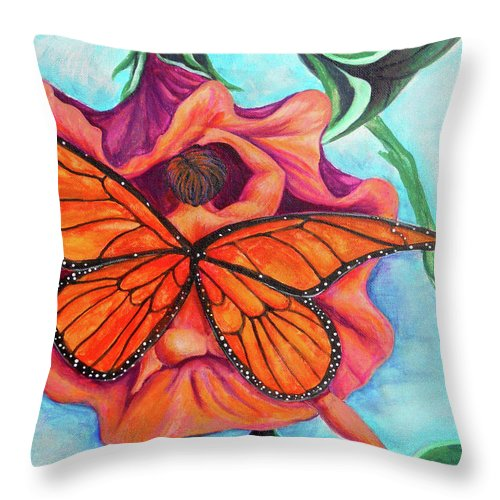 Courious Throw Pillow featuring the painting Curious by Bobby Jones