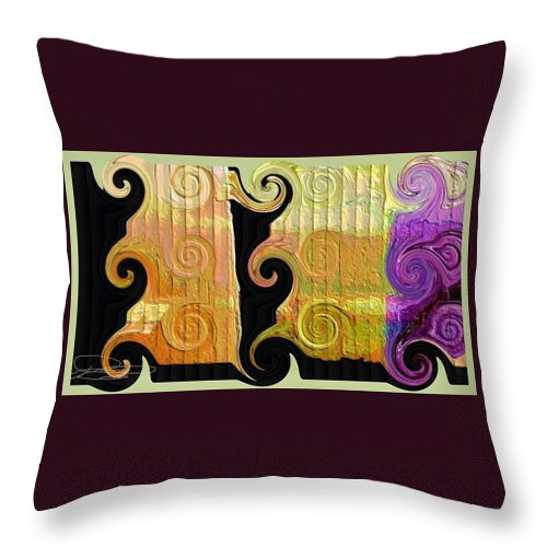 Abstract Digital Art Throw Pillow featuring the photograph Curling Up by Diana Chason