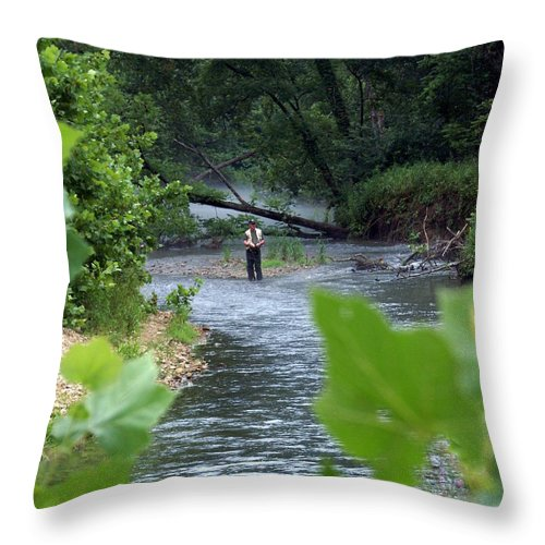 Current River Throw Pillow featuring the photograph Current River 5 by Marty Koch