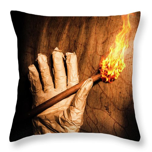 Paranormal Throw Pillow featuring the photograph Curse Of The Tomb Robber by Jorgo Photography - Wall Art Gallery