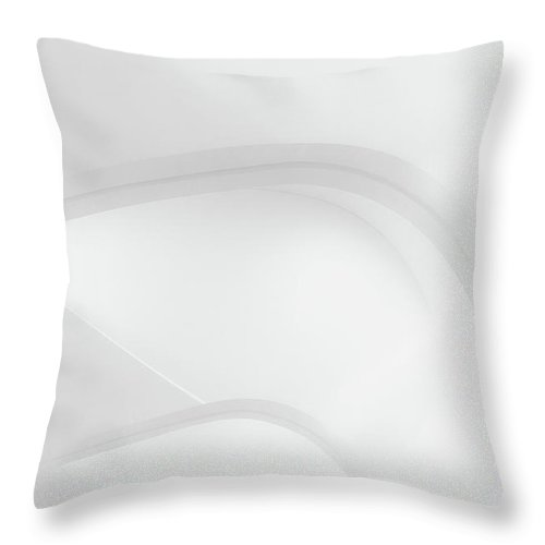 Black And White Throw Pillow featuring the photograph Curved Lines 2 by Scott Norris