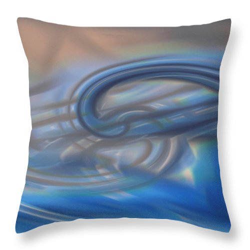 Abstracts Throw Pillow featuring the digital art Curved Lines by Linda Sannuti