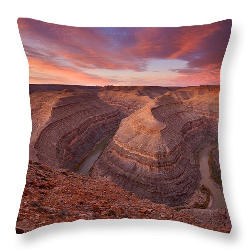 Canyon Throw Pillow featuring the photograph Curves Ahead by Mike Dawson