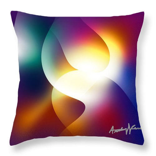 Curves Throw Pillow featuring the digital art Curves And Light by Anthony Caruso