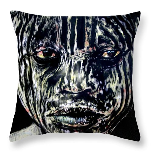 Throw Pillow featuring the mixed media Cusp Of Enlightenment by Chester Elmore