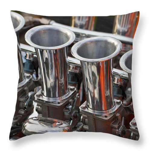 Clare Bambers Throw Pillow featuring the photograph Custom Build Car by Clare Bambers
