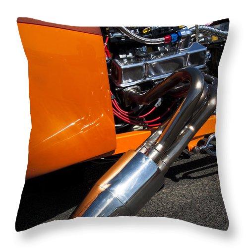 Hot Rod Throw Pillow featuring the photograph Custom Hot Rod Engine 2 by Jill Reger