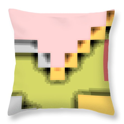 Square Throw Pillow featuring the digital art Cyberstructure 1 by Eikoni Images