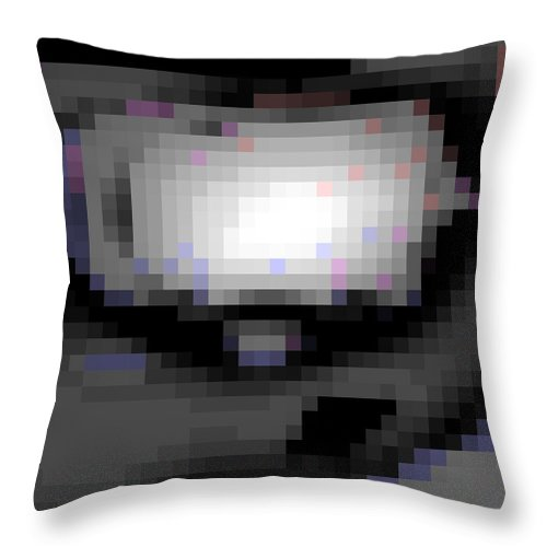 Square Throw Pillow featuring the digital art Cyberstructure 10 by Eikoni Images