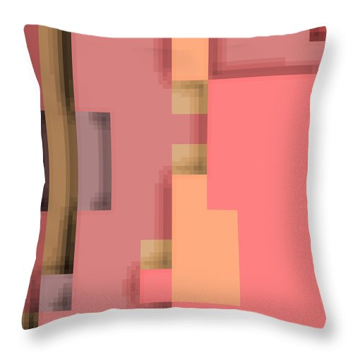 Square Throw Pillow featuring the digital art Cyberstructure 11 by Eikoni Images